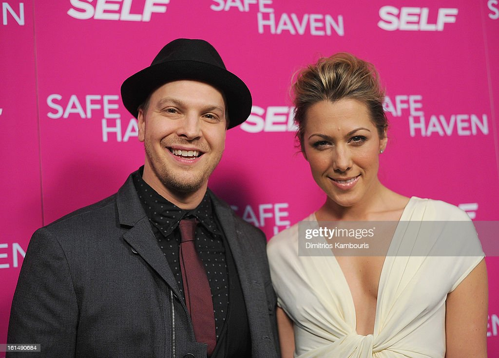 <a gi-track='captionPersonalityLinkClicked' href=/galleries/search?phrase=Gavin+DeGraw&family=editorial&specificpeople=203282 ng-click='$event.stopPropagation()'>Gavin DeGraw</a> and <a gi-track='captionPersonalityLinkClicked' href=/galleries/search?phrase=Colbie+Caillat&family=editorial&specificpeople=4410812 ng-click='$event.stopPropagation()'>Colbie Caillat</a> attends'Safe Haven' New York Screening at Sunshine Landmark on February 11, 2013 in New York City.