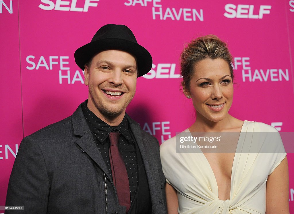 Gavin DeGraw and Colbie Caillat attends'Safe Haven' New York Screening at Sunshine Landmark on February 11, 2013 in New York City.