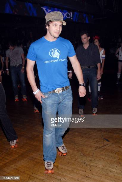 Gavin DeGraw during Yahoo and Jessica Simpson Roller Skating Party Celebrating 'A Public Affair' Inside at The Roxy in New York City New York United...