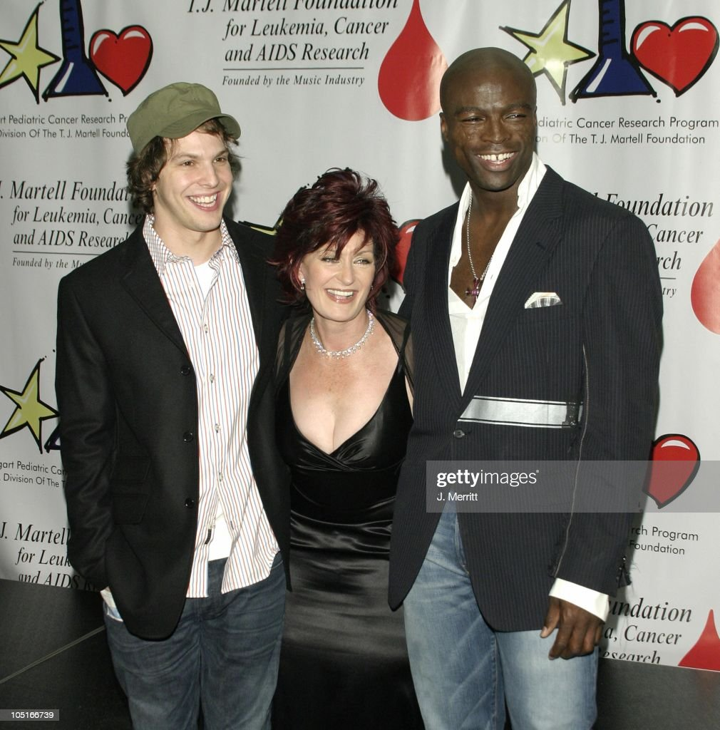 Gavin DeGraw, Sharon Osbourne, & Seal during The Bogart Tour For A Cure at The Kodak Theatre in Hollywood, CA, United States.