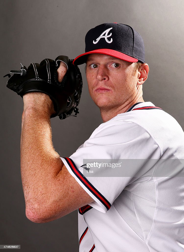 <a gi-track='captionPersonalityLinkClicked' href=/galleries/search?phrase=Gavin+Floyd&family=editorial&specificpeople=224627 ng-click='$event.stopPropagation()'>Gavin Floyd</a> #32 of the Atlanta Braves poses for a portrait during the Atlanta Braves Photo Day at Champion Stadium on February 24, 2014 in Lake Buena Vista, Florida.