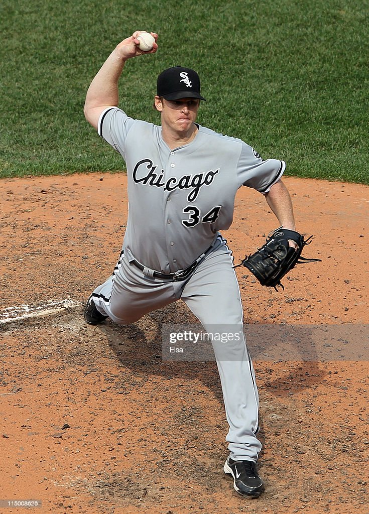 <a gi-track='captionPersonalityLinkClicked' href=/galleries/search?phrase=Gavin+Floyd&family=editorial&specificpeople=224627 ng-click='$event.stopPropagation()'>Gavin Floyd</a> #34 of the Chicago White Sox delivers a pitch against the Boston Red Sox on June 1, 2011 at Fenway Park in Boston, Massachusetts.