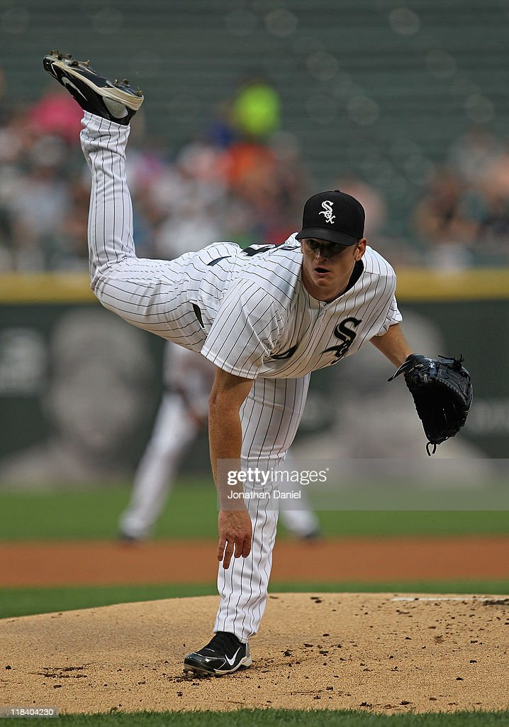 <a gi-track='captionPersonalityLinkClicked' href=/galleries/search?phrase=Gavin+Floyd&family=editorial&specificpeople=224627 ng-click='$event.stopPropagation()'>Gavin Floyd</a> #34 of the Chicago White Sox delivers the ball against the Seattle Mariners at U.S. Cellular Field on June 8, 2011 in Chicago, Illinois. The Mariners defeated the White Sox 7-4 in 10 innings.