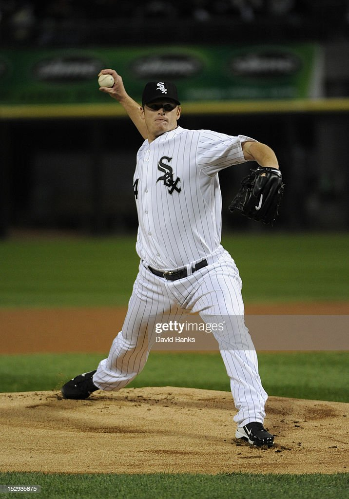 <a gi-track='captionPersonalityLinkClicked' href=/galleries/search?phrase=Gavin+Floyd&family=editorial&specificpeople=224627 ng-click='$event.stopPropagation()'>Gavin Floyd</a> #34 of the Chicago White Sox pitches against the Tampa Bay Rays in the first inning on September 28, 2012 at U.S. Cellular Field in Chicago, Illinois.