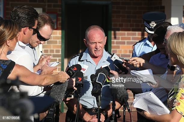 Gavin Fuller Senior Operations supervisor Queensland Ambulance Services briefs the media after an incident on the Thunder River Rapids ride at...
