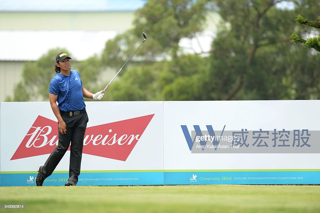 Gavin Green of Malaysia pictured during the practice round ahead of the Yeangder Tournament Players Championship at Linkou International Golf Club on June 28, 2016 in Taipei, Taiwan.