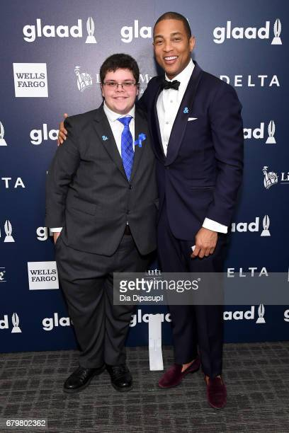 Gavin Grimm and CNN anchor Don Lemon attend the 28th Annual GLAAD Media Awards at The Hilton Midtown on May 6 2017 in New York City