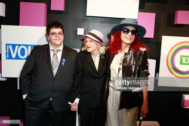 Gavin Grimm Edie Windsor and Patricia Field attend the 2017 Village Voice Pride Awards at Capitale on June 21 2017 in New York City