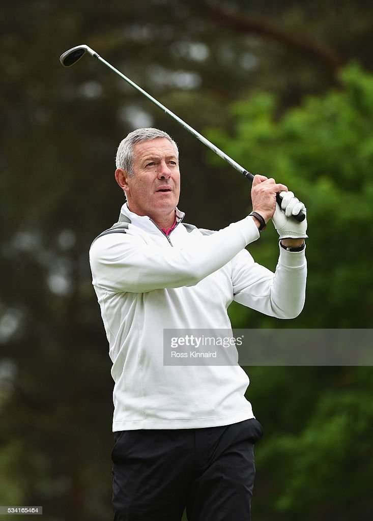 <a gi-track='captionPersonalityLinkClicked' href=/galleries/search?phrase=Gavin+Hastings&family=editorial&specificpeople=2932129 ng-click='$event.stopPropagation()'>Gavin Hastings</a> in action during the Pro-Am prior to the BMW PGA Championship at Wentworth on May 25, 2016 in Virginia Water, England.