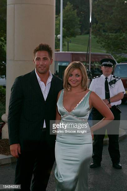 Gavin Henson and Charlotte Church arrive at the All*Star Cup Gala Celtic Manor Roman Road Course Newport Wales
