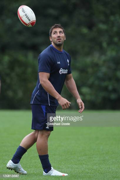 Gavin Henson during the Wales training session at The Vale Resort on August 11 2011 in Cardiff Wales