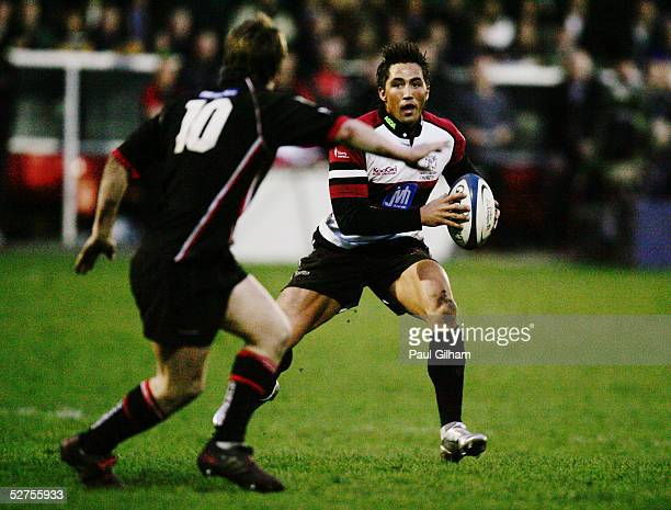 Gavin Henson of the Ospreys in action during the Celtic League match between NeathSwansea Ospreys and Edinburgh at The Gnoll on March 26 2005 in...