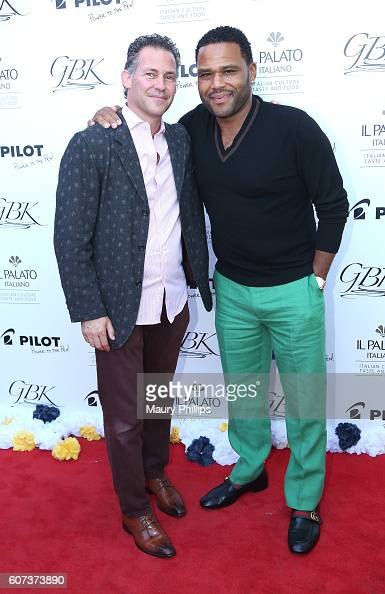 Gavin Keilly and actor Anthony Anderson attend PILOT PEN GBK's PreEmmy Luxury Lounge Day 2 at L'Ermitage Beverly Hills Hotel on September 17 2016 in...