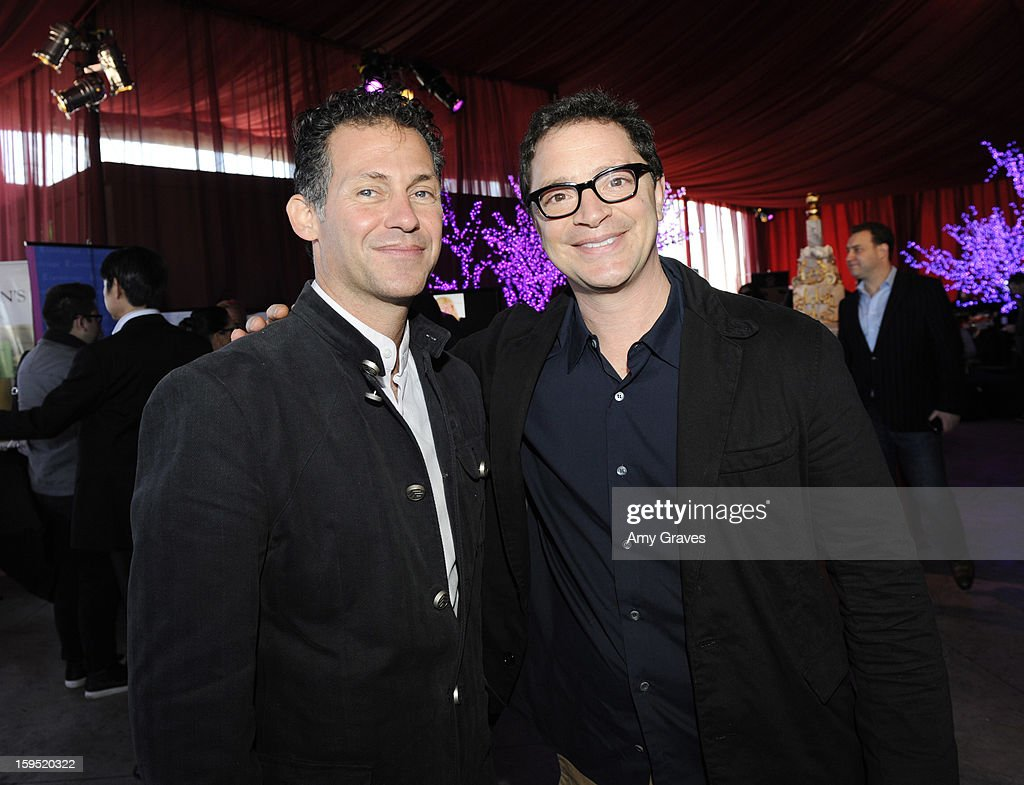 Gavin Keilly and Joshua Molina attend GBK's Luxury Lounge during Golden Globe weekend day 2 at L'Ermitage Beverly Hills Hotel on January 12, 2013 in Beverly Hills, California.