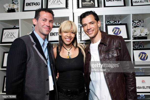 Gavin Keilly Keyshia Cole and El Debarge attend the GBK BET Awards Official Backstage Talent Lounge Day 3 at The Shrine Auditorium on June 27 2010 in...