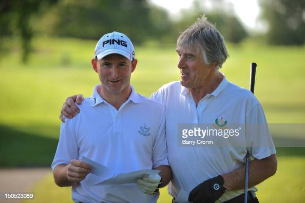 Gavin Lunney and John Dunne from Naas Golf Club during the Lombard Challenge Regional Qualifier at Roganstown Golf Club on August 20 2012 in...