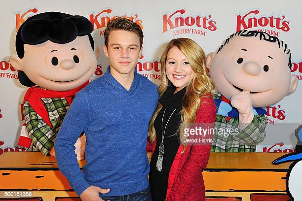 Gavin Macintosh and Brooke Sorenson attend Knott's Merry Farm Countdown to Christmas Tree Lighting at Knott's Berry Farm on December 5 2015 in Buena...