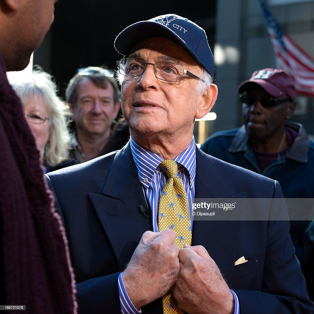Gavin MacLeod visits 'Extra' in Times Square on October 24, 2013 in New York City.