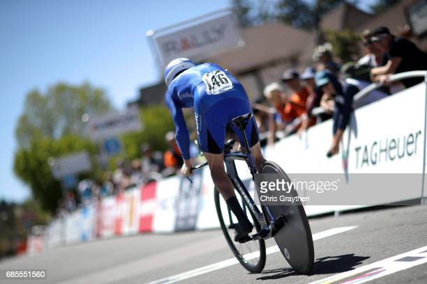 Gavin Mannion of United States riding for UnitedHealthCare Pro Cycling rides during stage five of the AMGEN Tour of California from Ontario to Mt...