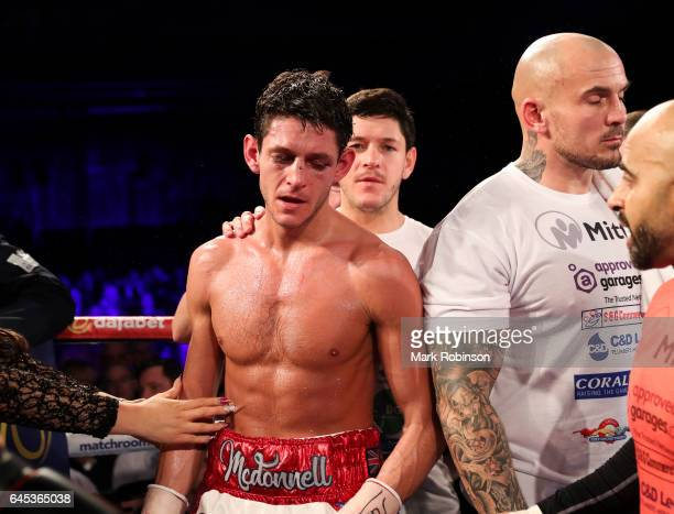 Gavin McDonnell after he lost his fight against Rey Vargas for the Vacant WBC SuperBantamweight Championship on points on February 25 2017 in Hull...