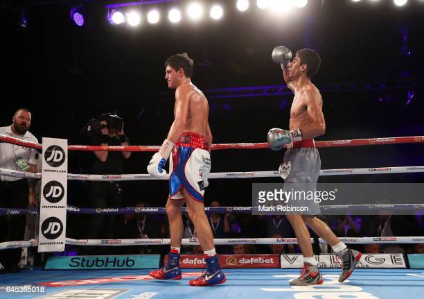 Gavin McDonnell and Rey Vargas at the end of the 12th round after their fight for the Vacant WBC SuperBantamweight Championship on February 25 2017...