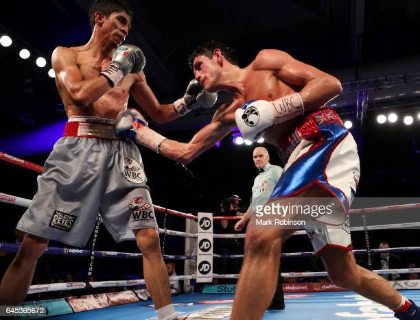 Gavin McDonnell and Rey Vargas during their fight for the Vacant WBC SuperBantamweight Championship on February 25 2017 in Hull England