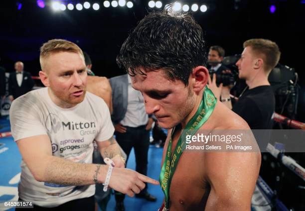 Gavin McDonnell appears dejected after losing to Rey Vargas in the WBC Super Bantamweight Championship bout at Hull Ice Arena