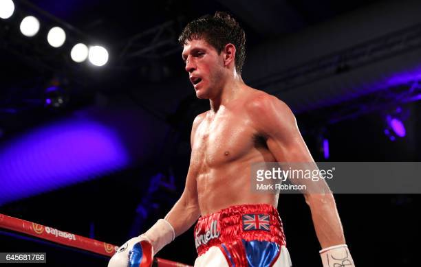 Gavin McDonnell during his fight against Rey Vargas for the Vacant WBC SuperBantamweight Championship on February 25 2017 in Hull England