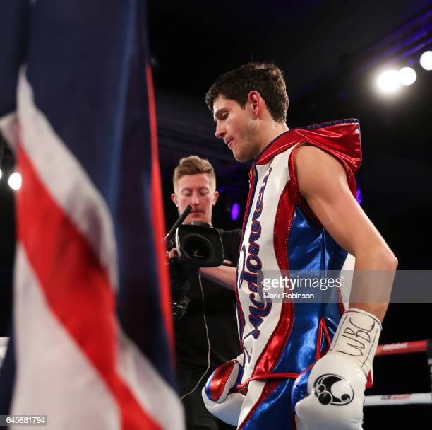 Gavin McDonnell enters the ring for his fight against Rey Vargas for the Vacant WBC SuperBantamweight Championship on February 25 2017 in Hull England