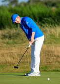 Gavin Moynihan of Ireland and the GBI team during the afternoon singles matches in the 2015 Walker Cup Match at Royal Lytham St Annes on September 12...