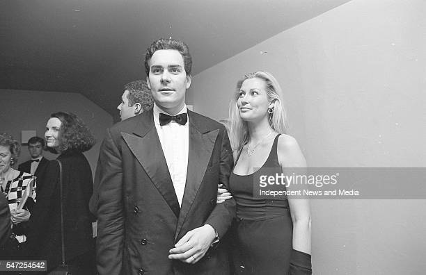 Gavin O'Reilly MD of the Independent Directory and his wife Alison Doody pictured during the interval of La Boheme at the Wexford Opera Festival...