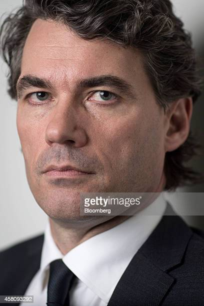 Gavin Patterson chief executive officer of BT Group Plc poses for a photograph following a Bloomberg Television interview in London UK on Thursday...