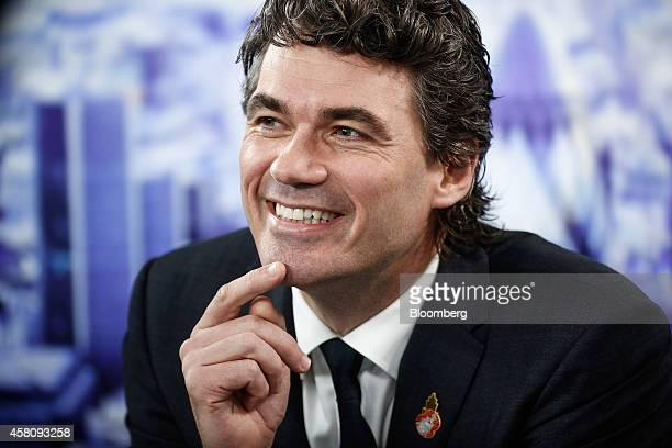 Gavin Patterson chief executive officer of BT Group Plc reacts during a Bloomberg Television interview in London UK on Thursday Oct 30 2014 BT's...