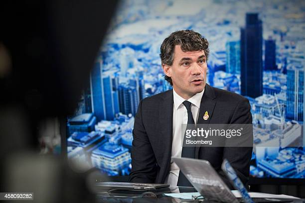 Gavin Patterson chief executive officer of BT Group Plc speaks during a Bloomberg Television interview in London UK on Thursday Oct 30 2014 BT's...