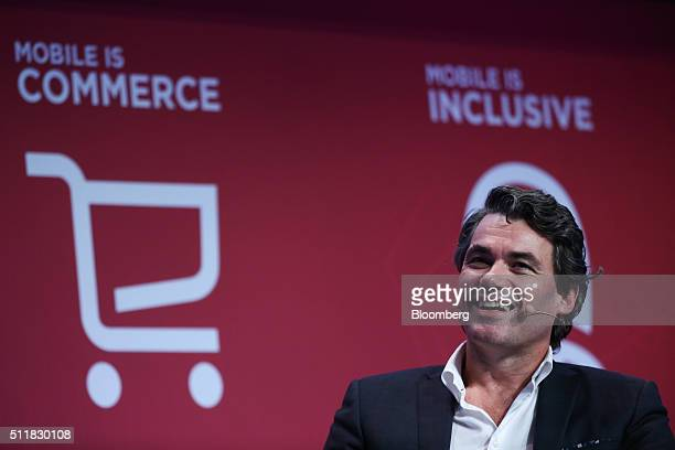 Gavin Patterson chief executive officer of BT Group Plc speaks during a keynote session at the Mobile World Congress in Barcelona Spain on Tuesday...