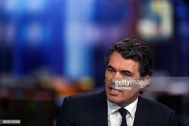 Gavin Patterson chief executive officer of BT Group Plc speaks during a Bloomberg Television interview in London UK on Thursday July 28 2016 BT Group...