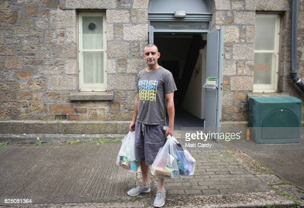 Gavin poses for a photograph as he visits the foodbank run by the charity Transformation CPR being run at the Camborne Centenary Methodist Church in...