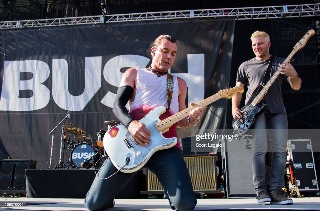 Gavin Rossdale (L) and Corey Britz of Bush performs during 2013 Rock On The Range at Columbus Crew Stadium on May 19, 2013 in Columbus, Ohio.