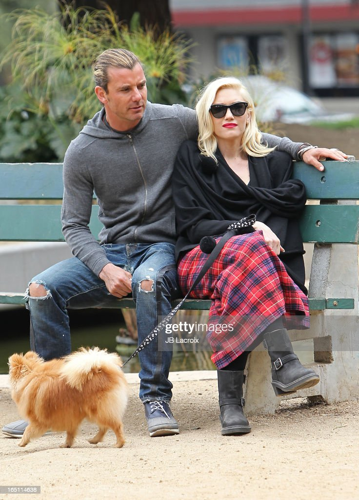 Gavin Rossdale and Gwen Stefani are seen on March 30, 2013 in Los Angeles, California.