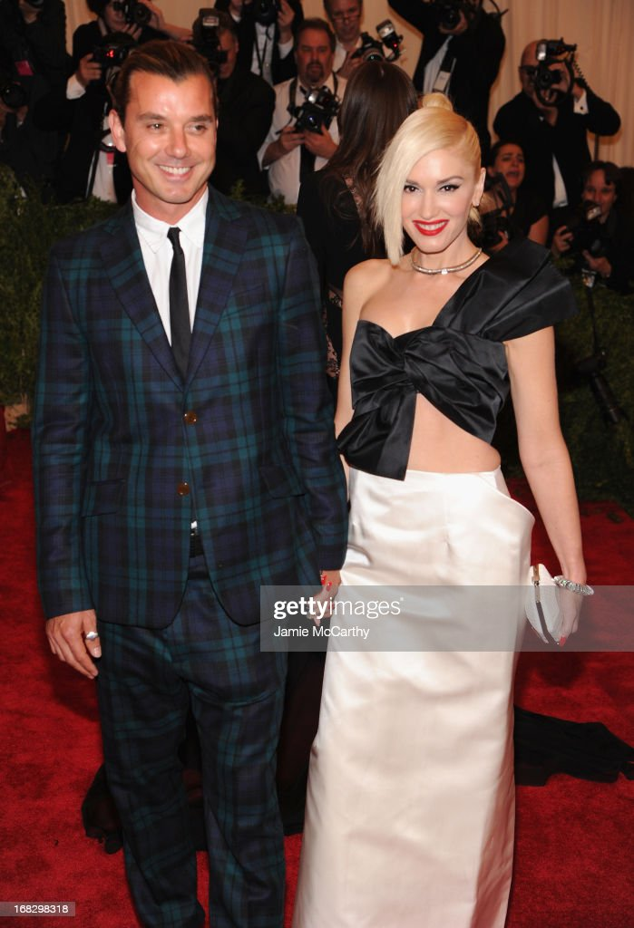 Gavin Rossdale (L) and Gwen Stefani attend the Costume Institute Gala for the 'PUNK: Chaos to Couture' exhibition at the Metropolitan Museum of Art on May 6, 2013 in New York City.