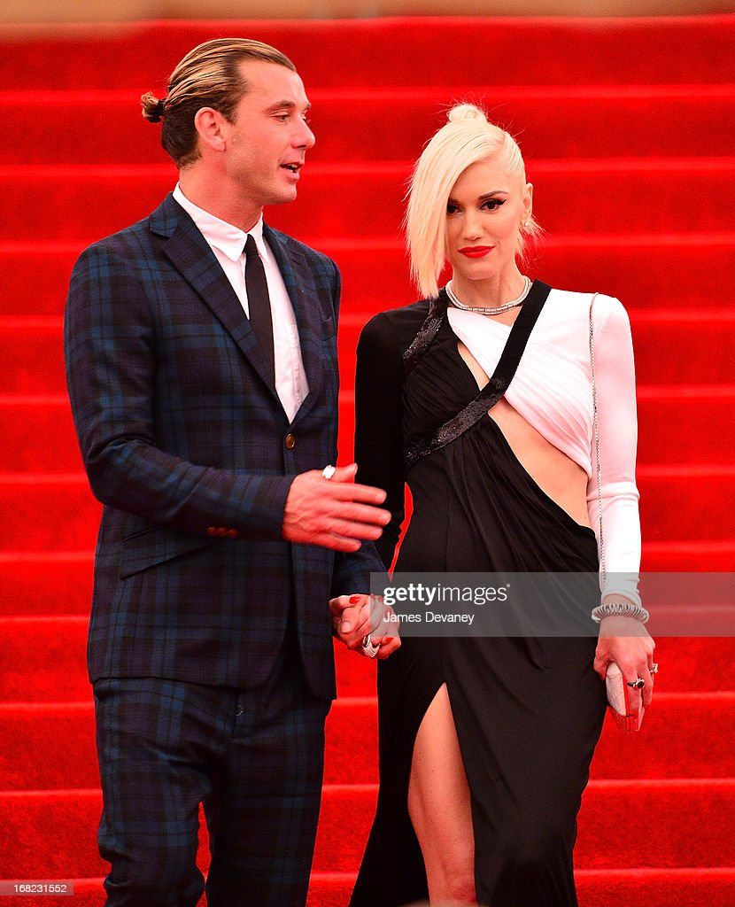 Gavin Rossdale and Gwen Stefani depart the Costume Institute Gala for the 'PUNK: Chaos to Couture' exhibition at the Metropolitan Museum of Art on May 6, 2013 in New York City.