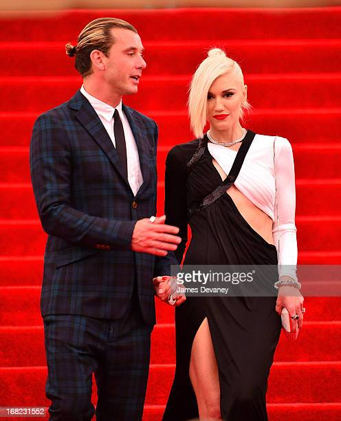 Gavin Rossdale and Gwen Stefani depart the Costume Institute Gala for the 'PUNK Chaos to Couture' exhibition at the Metropolitan Museum of Art on May...