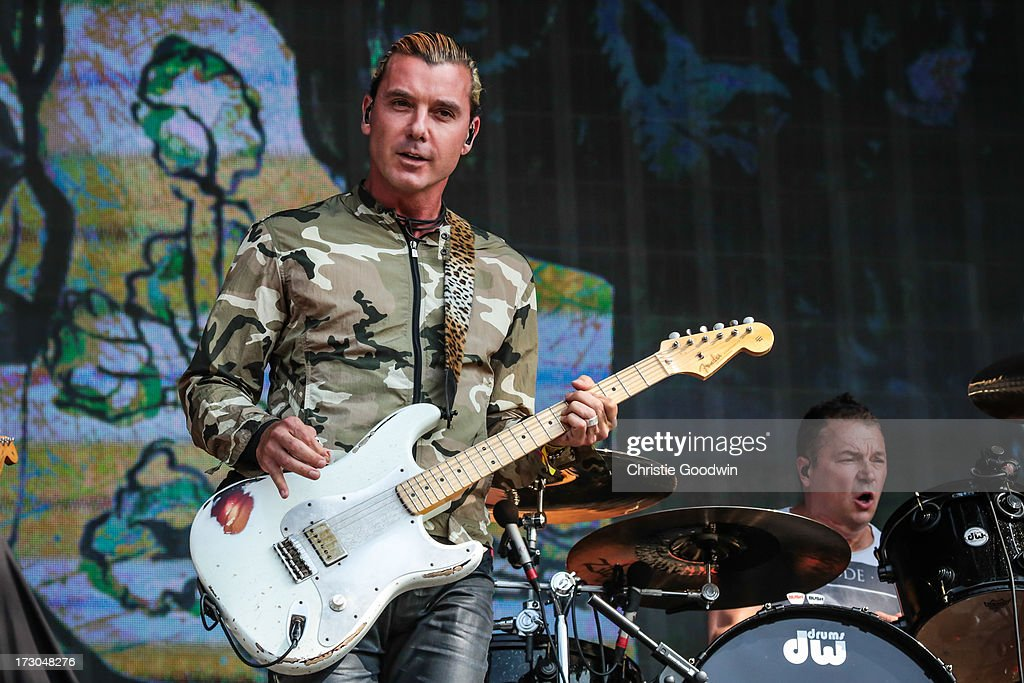 <a gi-track='captionPersonalityLinkClicked' href=/galleries/search?phrase=Gavin+Rossdale&family=editorial&specificpeople=203016 ng-click='$event.stopPropagation()'>Gavin Rossdale</a> and Robin Goodridge of Bush perform on stage at British Summer Time Festival at Hyde Park on July 5, 2013 in London, England.