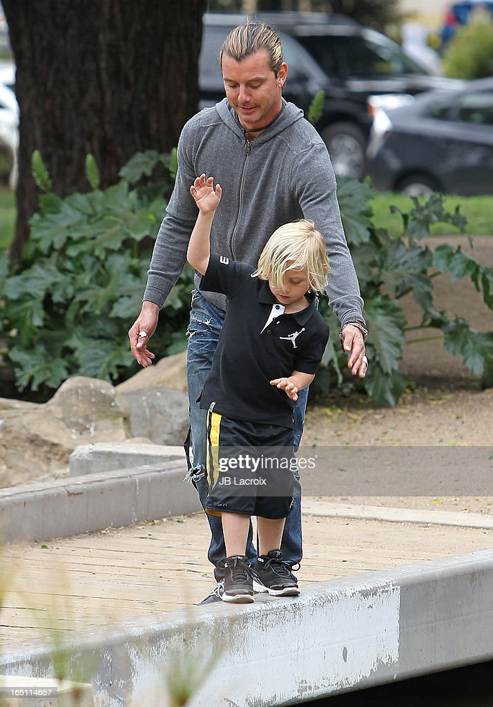 Gavin Rossdale and Zuma Rossdale are seen on March 30, 2013 in Los Angeles, California.