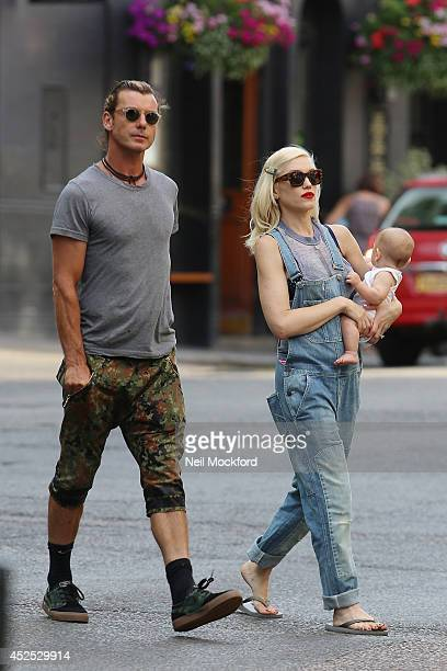 Gavin Rossdale Gwen Stefani and Apollo Rossdale seen in Primrose Hill on July 22 2014 in London England