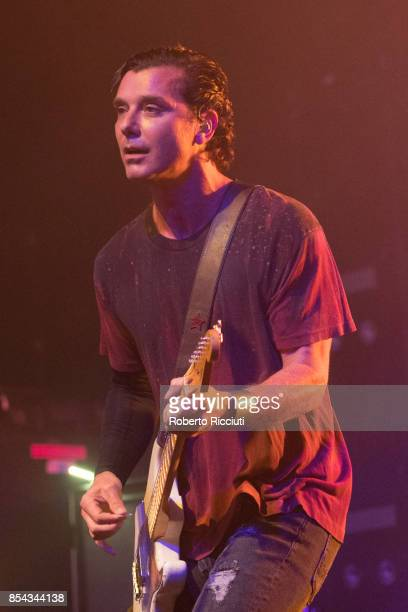 Gavin Rossdale of British rock band Bush performs on stage at O2 ABC Glasgow on September 26 2017 in Glasgow Scotland