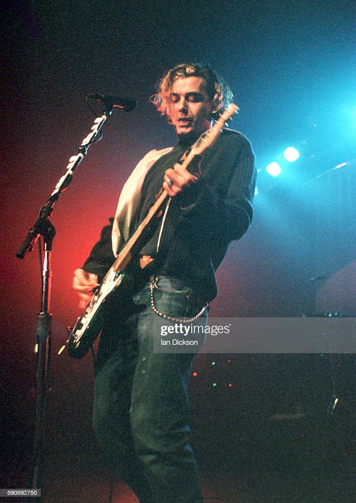 Gavin Rossdale of Bush performing on stage at The Forum Kentish Town London 7 February 1997