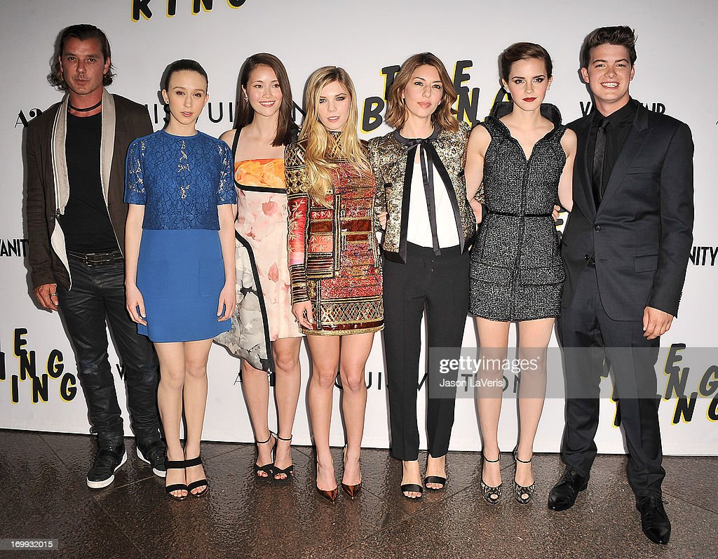 Gavin Rossdale Taissa Farmiga Katie Chang Claire Julien Sofia Coppola Emma Watson and Israel Broussard attend the premiere of 'The Bling Ring' at...