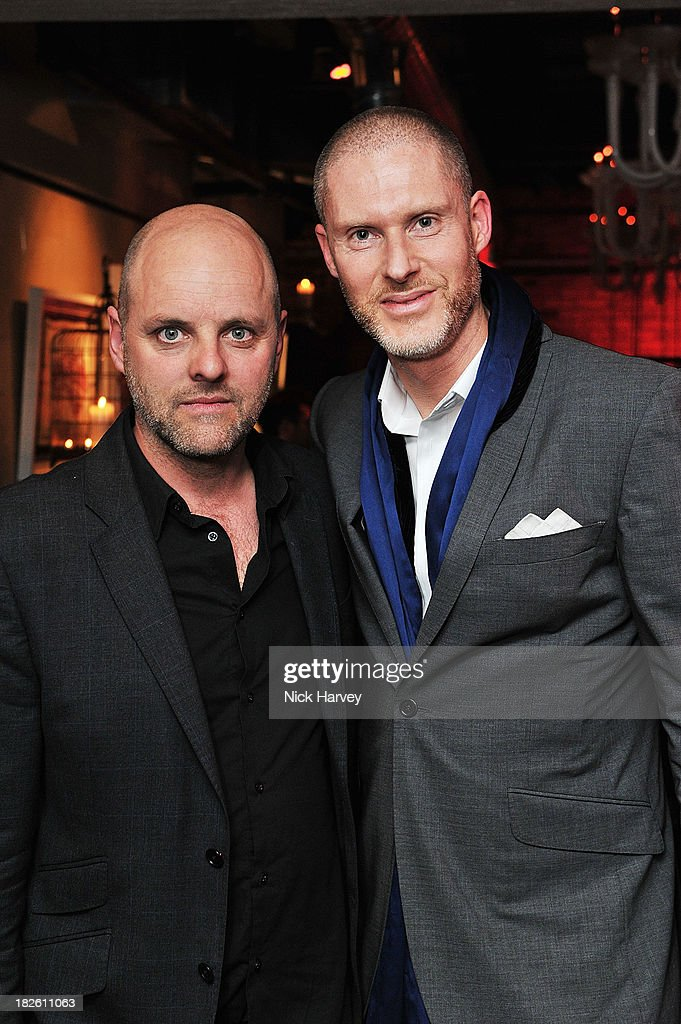 Gavin Turk and Jean-David Malat attends Baku Cellar 164 for an exclusive show by Gavin Turk, in collaboration with A Space for Art and Baku Magazine in support of The House of Fairytales on October 1, 2013 in London, England.