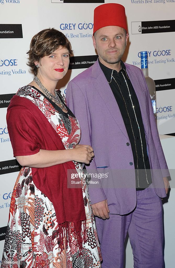 Gavin Turk (R) attends the Grey Goose Winter Ball at Battersea Power station on November 10, 2012 in London, England.